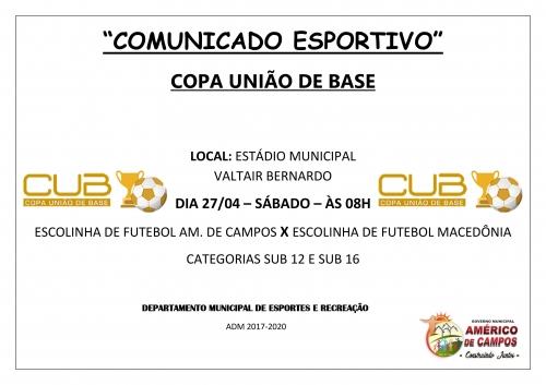 dfbb3eb90 COMUNICADO ESPORTIVO. foto · foto · foto